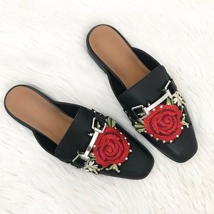 Rose Backless Loafers